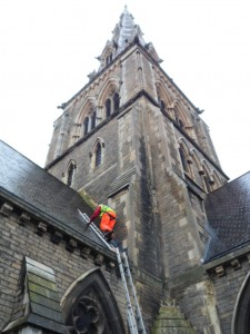 Church Roof Repair At St Giles' Church, Camberwell, London