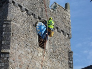 Clock Face Maintenance At St Tathan, St Athan, South Wales